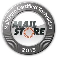 MailStore Certified Technician Nürnberg Zertifikat